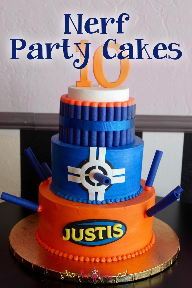 Nerf Birthday Cake Nerf Party Cakes Pixy Cakes