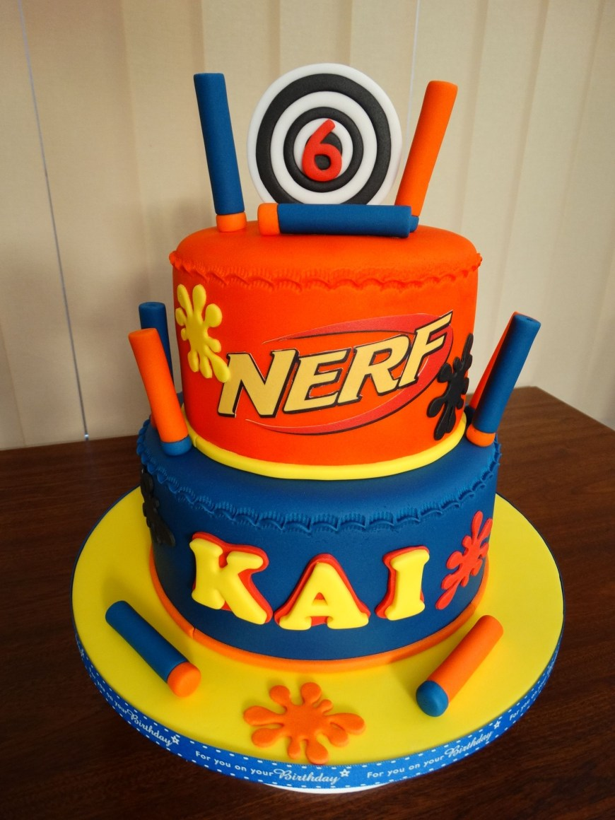 Nerf Birthday Cake Nerf Themed Cake Xmcx Nerf Pinterest Nerf Party Nerf Birthday