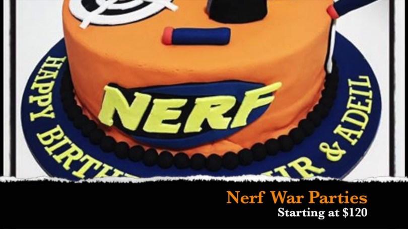 Nerf Birthday Cake Nerf War Party Youtube