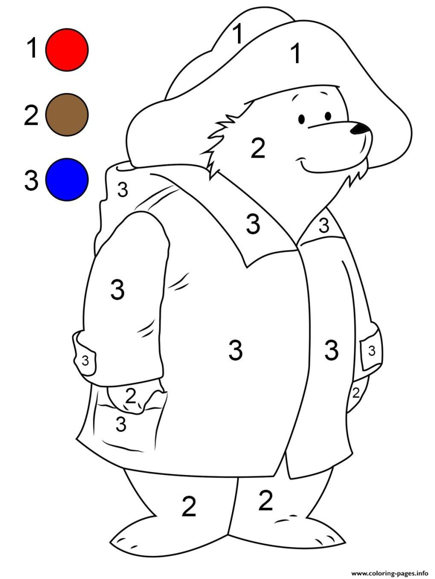 Number Coloring Pages Paddington Bear Number Coloring Pages Printable