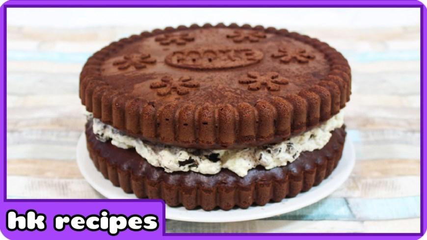 Oreo Birthday Cake How To Make Giant Oreo Birthday Cake Quick And Easy Recipe