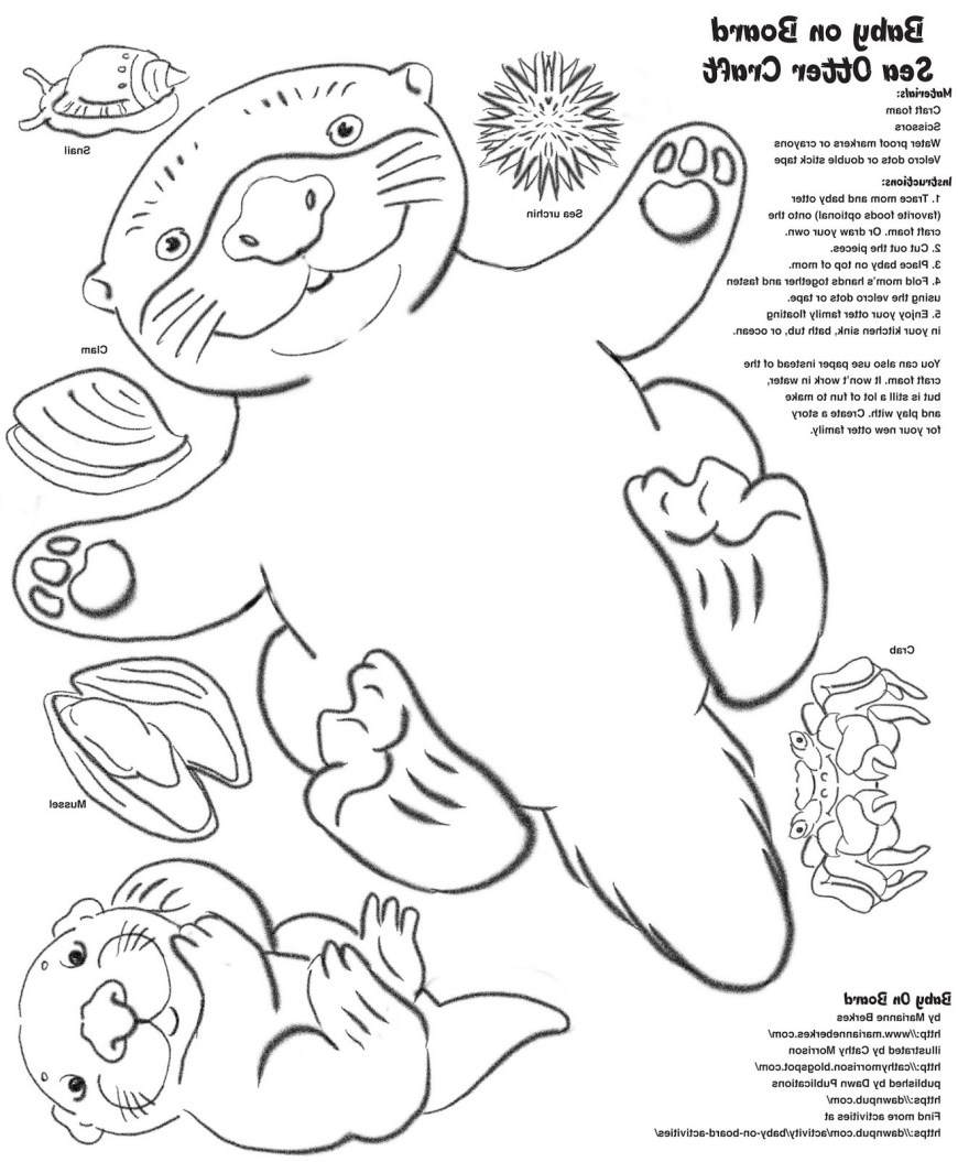 Otter Coloring Pages Sea Otter Coloring Page Ps25 Sea Coloring Pages New Awesome Sea
