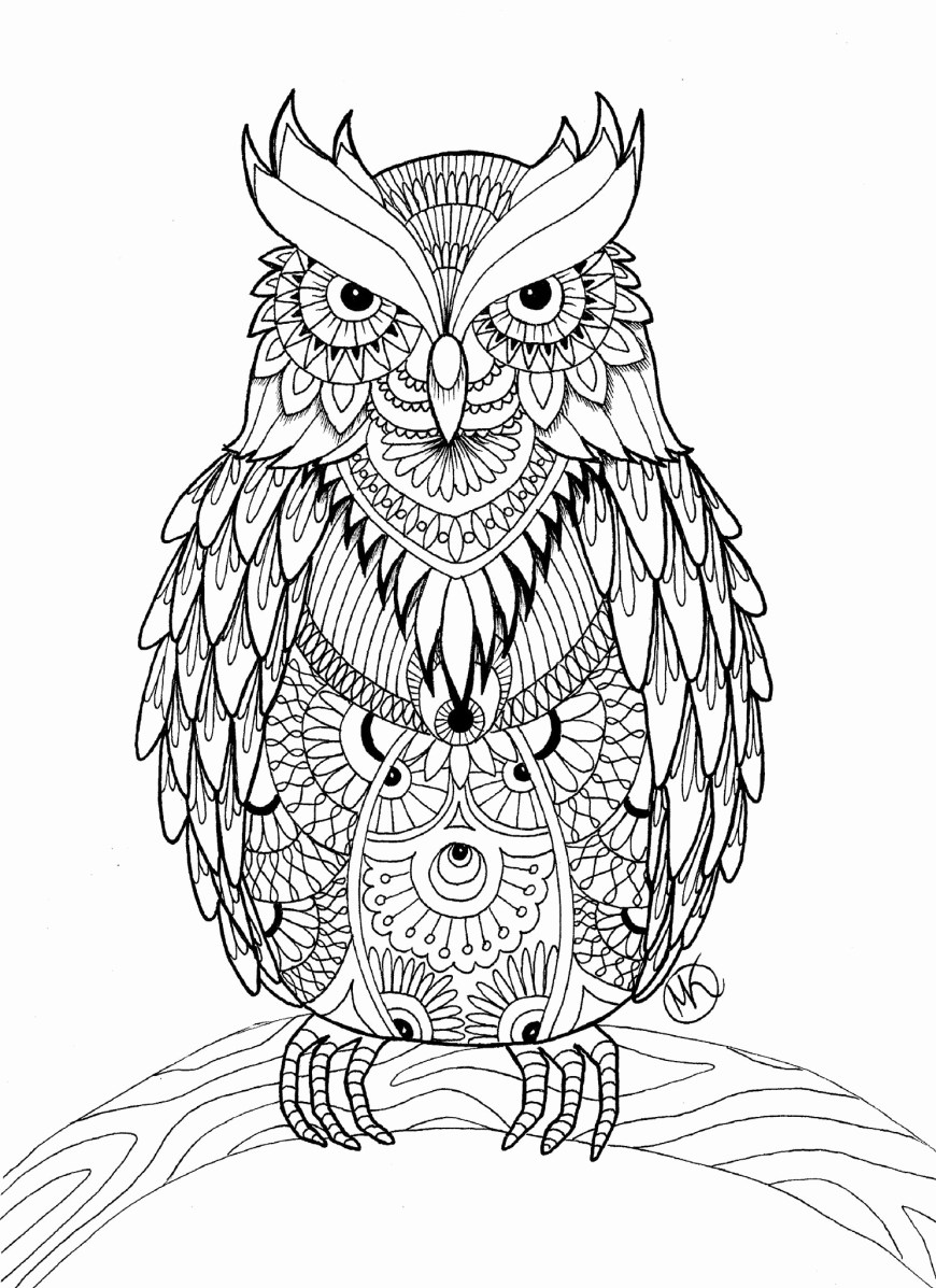Owl Coloring Pages For Adults Adult Coloring Pages Printable Of Owl Coloring Pages For Adults Free