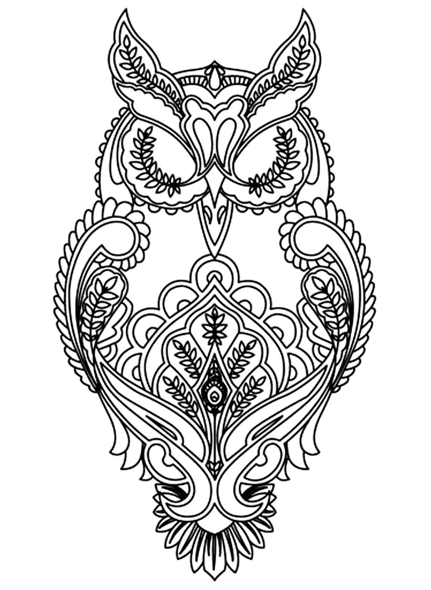 Owl Coloring Pages For Adults Owls Coloring Pages For Adults