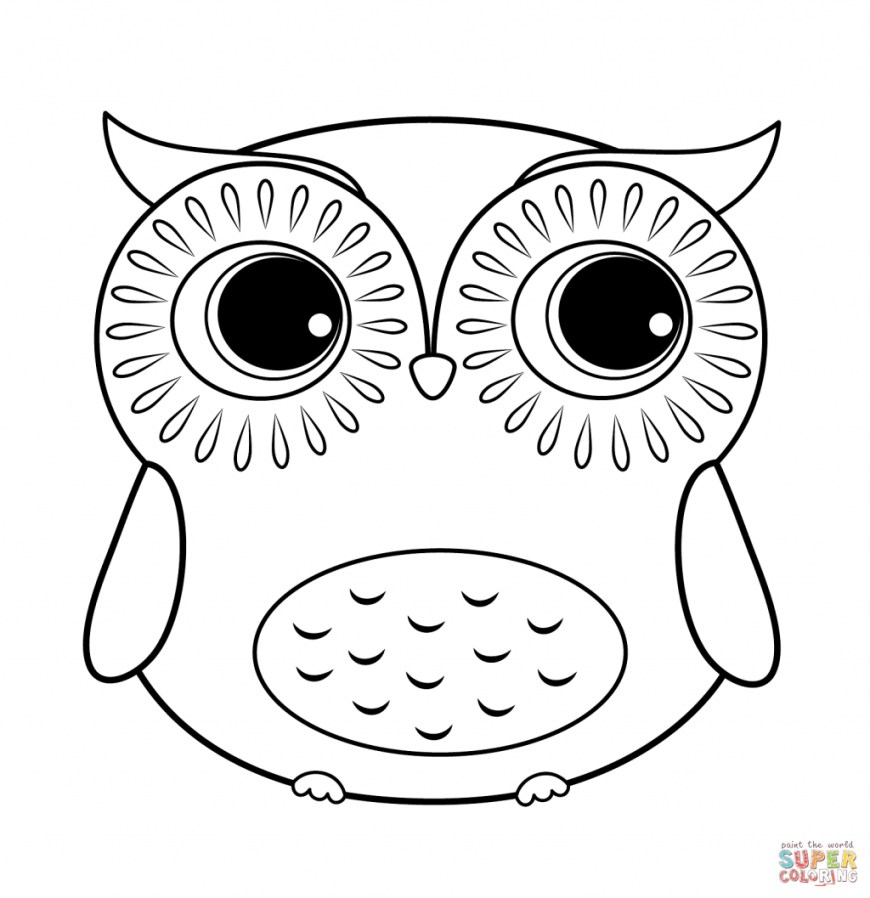 Owls Coloring Pages Coloring Page Owls Coloring Pages Free Cute Owl Page Cartoon Cute