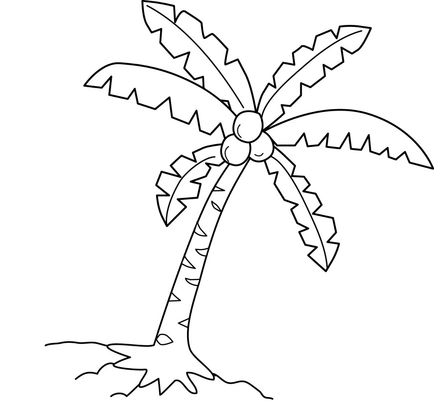 Palm Tree Coloring Page Palm Tree Coloring Page Vietti