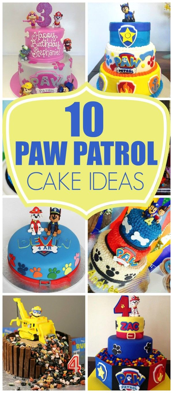 Paw Patrol Birthday Cake Ideas 10 Perfect Paw Patrol Birthday Cakes Pretty My Party Blog