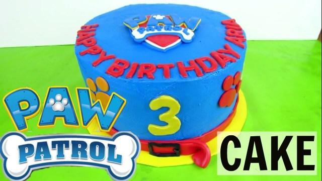 Paw Patrol Birthday Cake Ideas How To Make A Buttercream Paw Patrol Cake Youtube