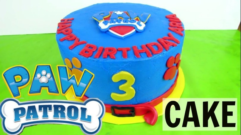Paw Patrol Birthday Cake Ideas How To Make A Buttercream Paw Patrol Cake Youtube