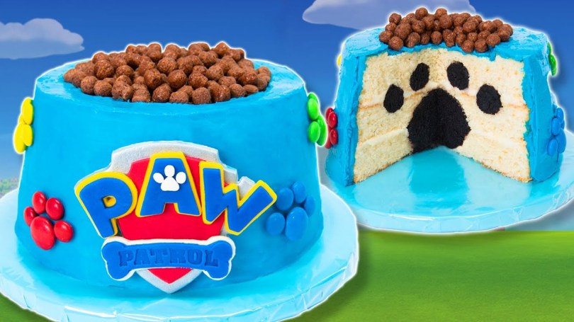 Paw Patrol Birthday Cake Ideas How To Make A Paw Patrol Cake From Cookies Cupcakes And Cardio Youtube