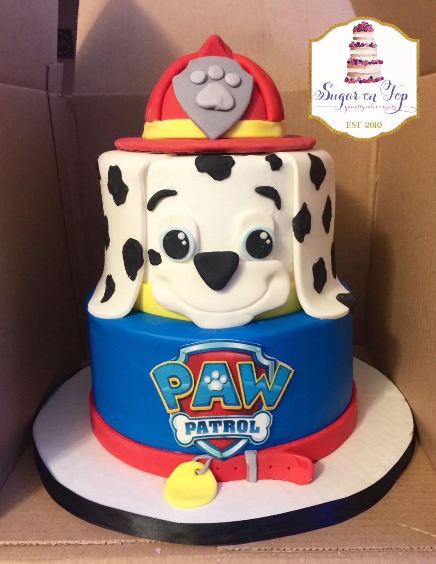 Paw Patrol Birthday Cake Ideas Paw Patrol Marshall Birthday Cake Facebooksugarontopcakes