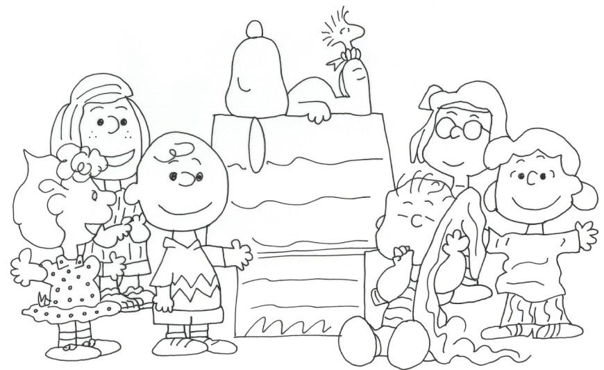Peanuts Coloring Pages Peanuts Coloring Pages Refrence Charlie Brown Christmas 24201870