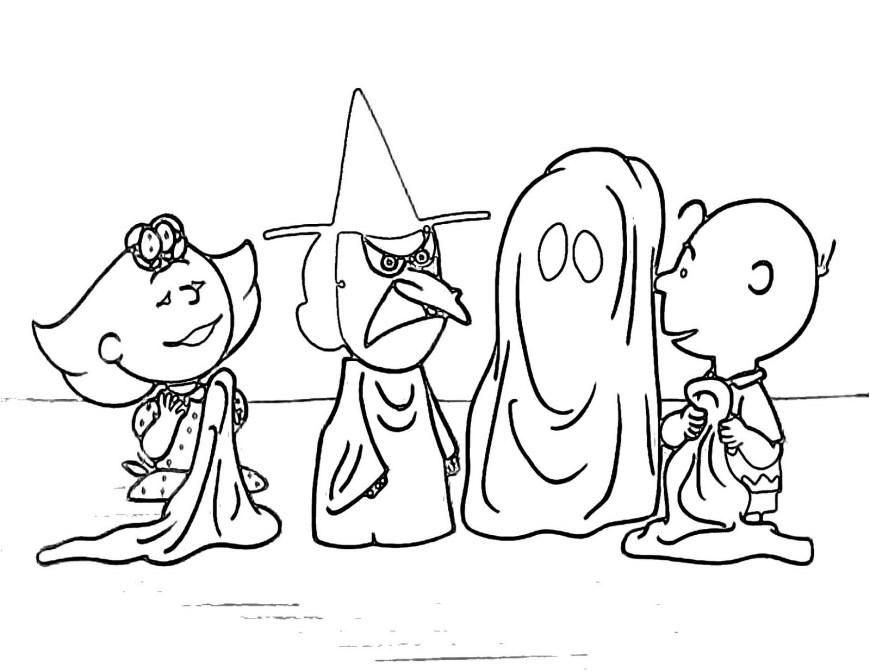 Peanuts Coloring Pages Printable Peanuts Halloween Coloring Pages Halloween Coloring Pages