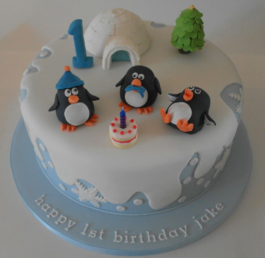 Penguin Birthday Cake Birthday Cake With Penguins