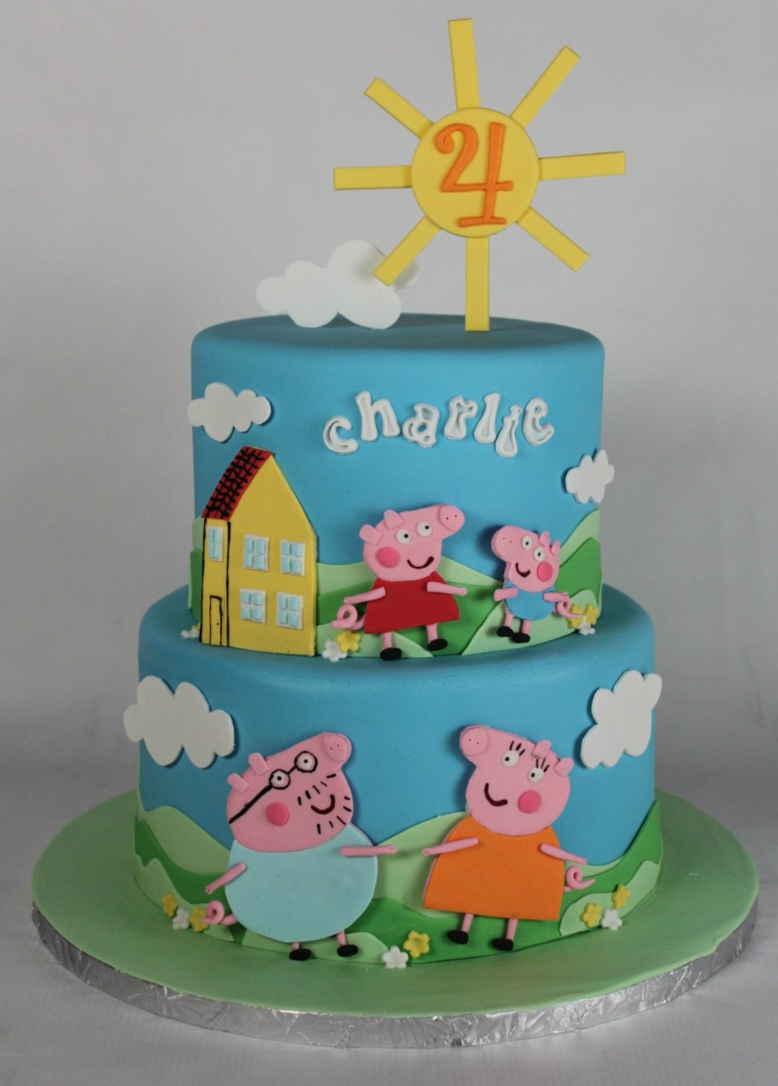 Peppa Pig Birthday Cakes Peppa Pig Birthday Cake Lil Miss Cakes