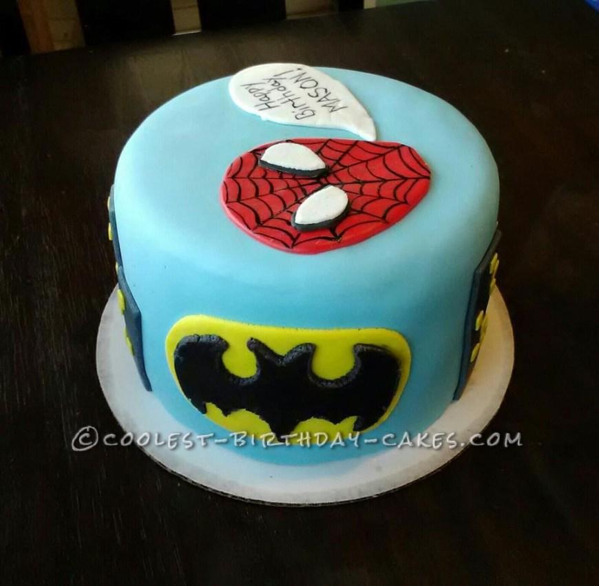 Personalized Birthday Cakes Super Hero Personalized Birthday Cake