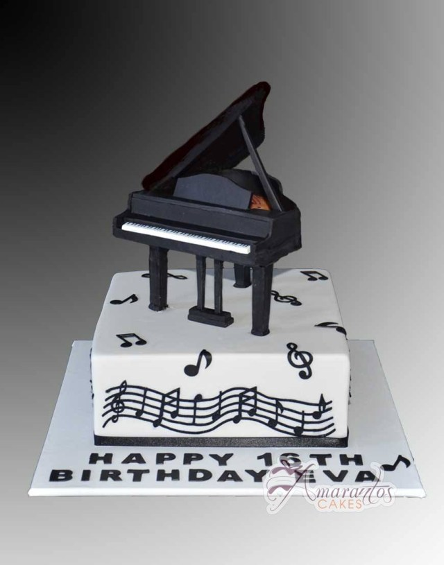 Piano Birthday Cake Clarinet Cake Ac346 Amarantos Birthday Cakes Melbourne