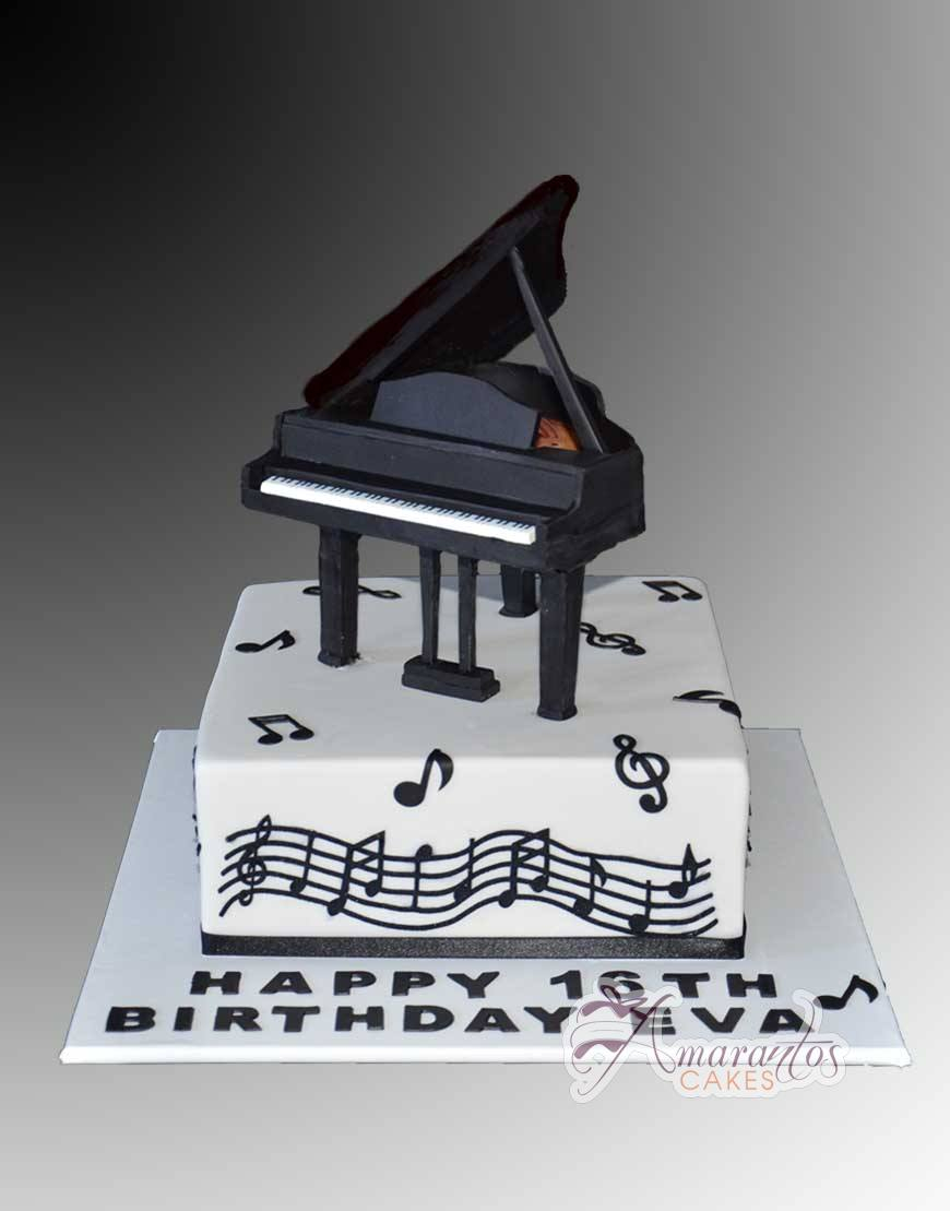 Piano Birthday Cake Clarinet Cake Ac346 Amarantos Birthday Cakes Melbourne