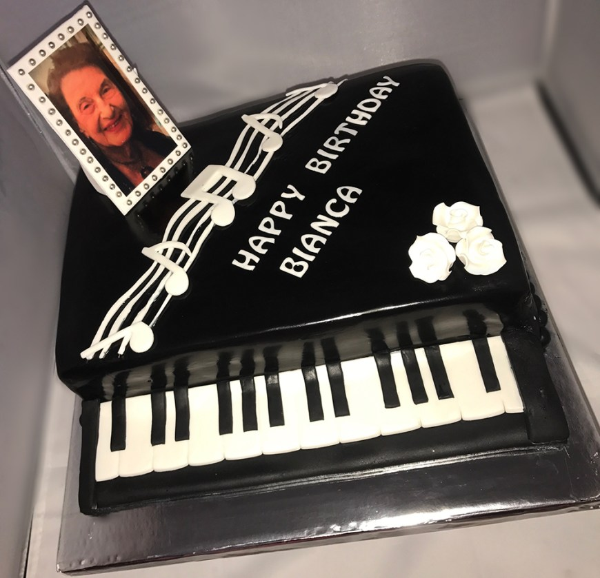 Piano Birthday Cake Custom Birthday Cake Piano Chefnessbakery