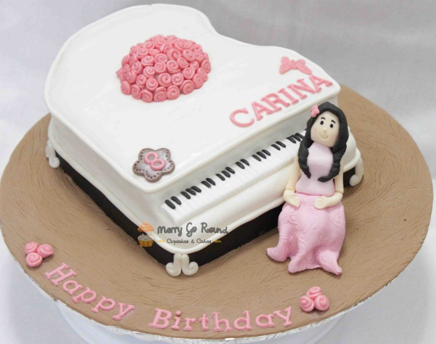 Piano Birthday Cake Merry Go Round Cupcakes Cakes Piano Cake For Carina