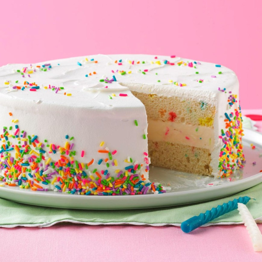 Picture Of Birthday Cake Ice Cream Birthday Cake Recipe Taste Of Home