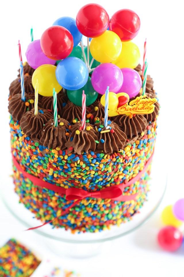 Picture Of Birthday Cake The Birthday Cake Sprinkle Bakes