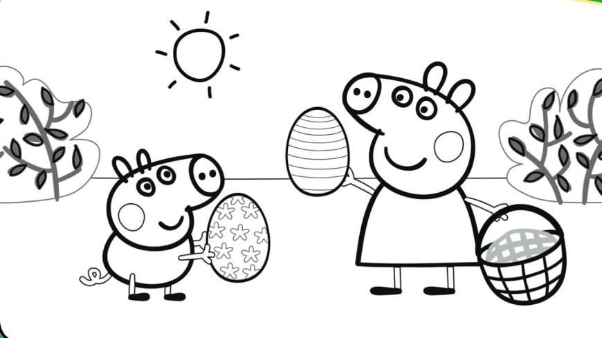 Pig Coloring Page Pegga Pig Coloring Pages For Kids Printable Printable Coloring