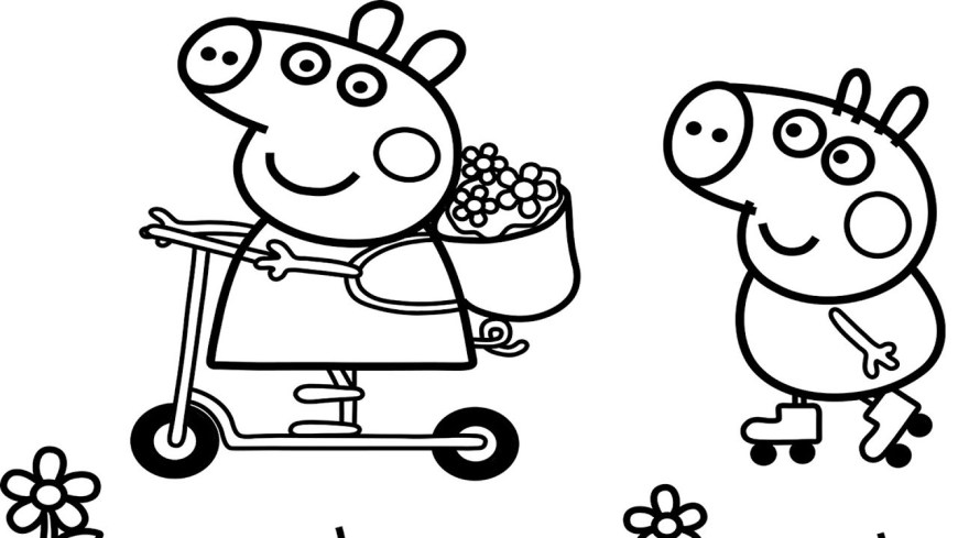 Pig Coloring Page Peppa Pig Coloring Pages Free Download Best Peppa Pig Coloring