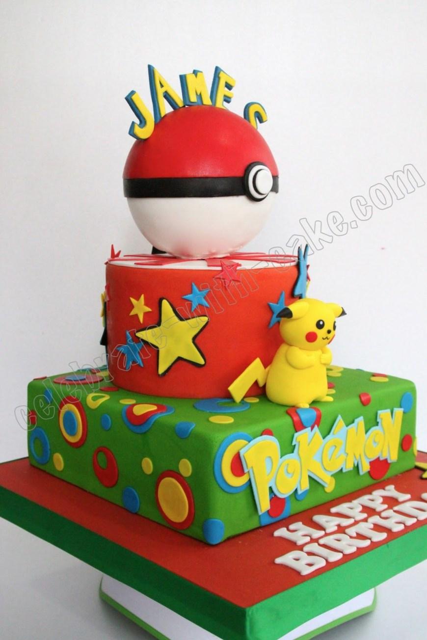 Pikachu Birthday Cake Celebrate With Cake Pikachu Cake Pokemon Party Pinterest