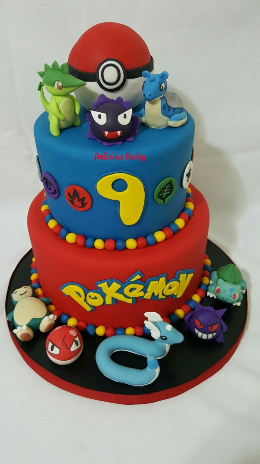 Pikachu Birthday Cake Fondant Pokemon Birthday Cake Cakes Pinterest Pokemon Birthday
