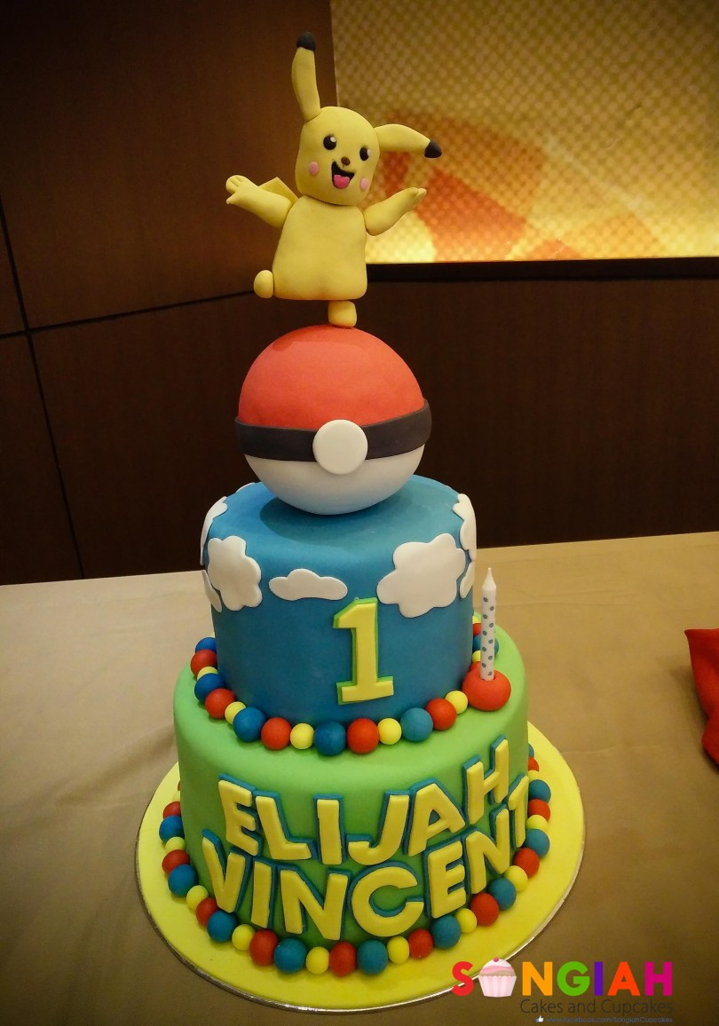 Pikachu Birthday Cake Songiah Elijah Vincents Pikachupokemon Birthday Cake