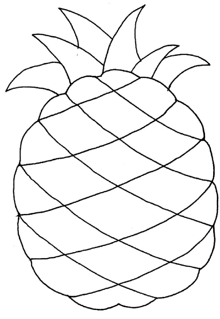 Pineapple Coloring Page Fruit Coloring Pages Pineapple Fabulous Awesome Page With Additional