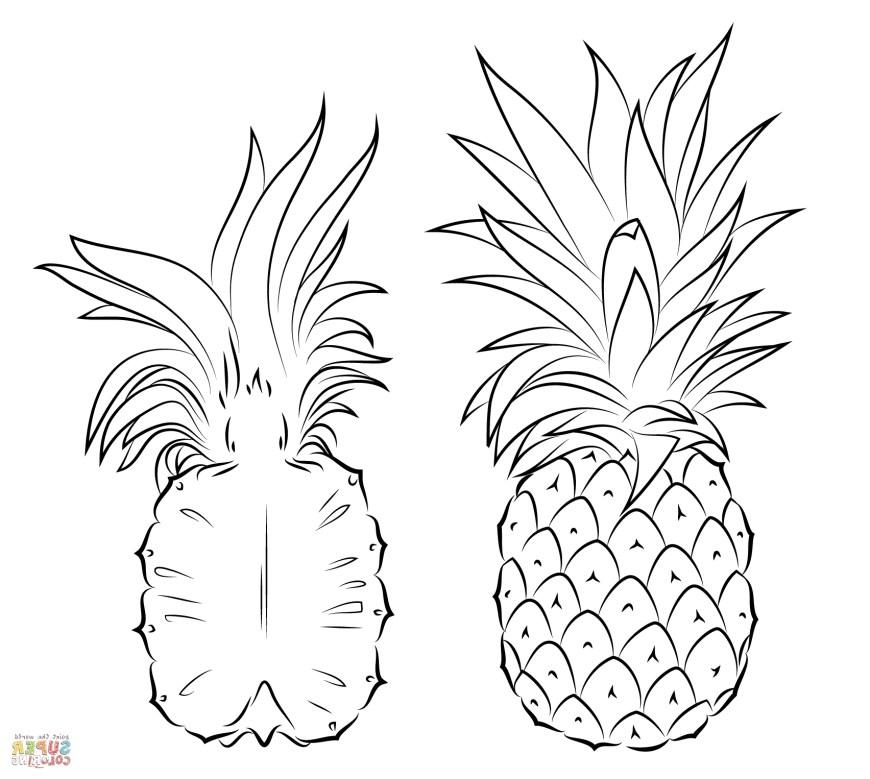 Pineapple Coloring Page Pineapple Coloring Page Pt9f Pineapples Coloring Pages Free