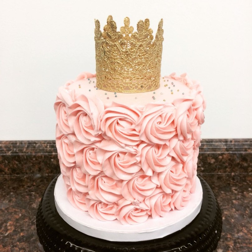 Pink And Gold Birthday Cake Pink And Gold Princess First Birthday Smash Cake Camis Cake Co In