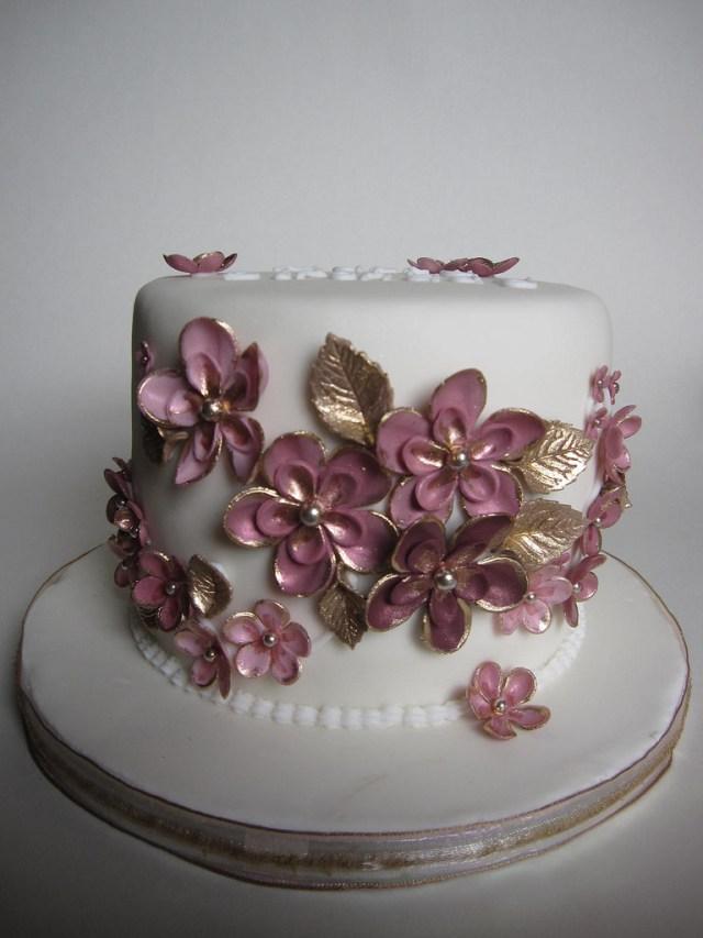 Pink And Gold Birthday Cake Pink Gold Birthday Cake Birthday Cake For My Sister Va Flickr