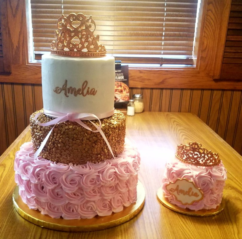 Pink And Gold Birthday Cake Pink Gold Birthday Cake Cakecentral