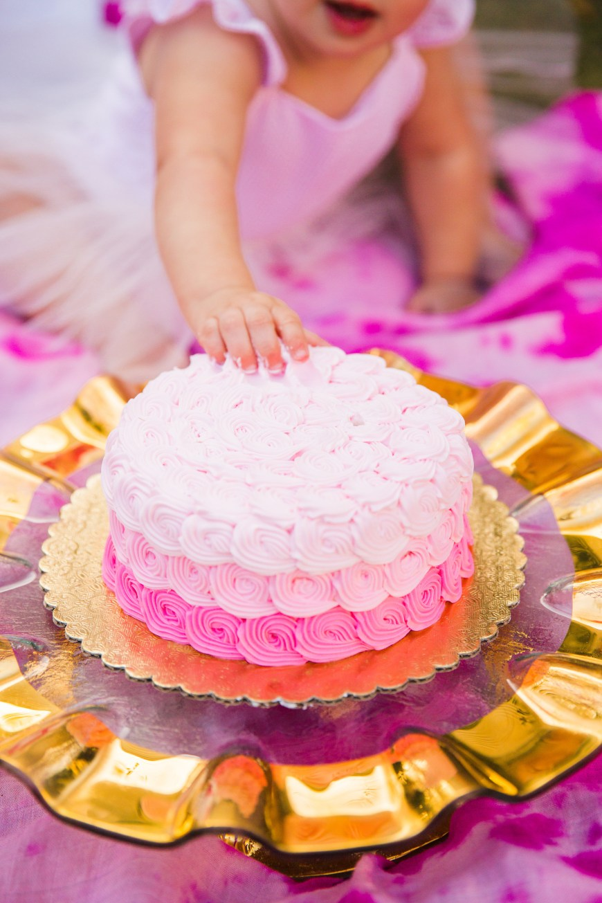 Pink And Gold Birthday Cake Pink Gold Birthday Party Photoshoot The Cuteness