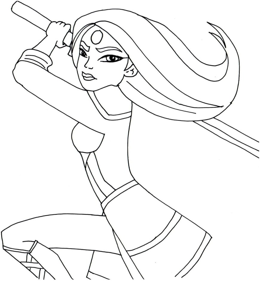 Pocahontas Coloring Pages Free Printable Super Hero High Coloring Page For Katana One Of My