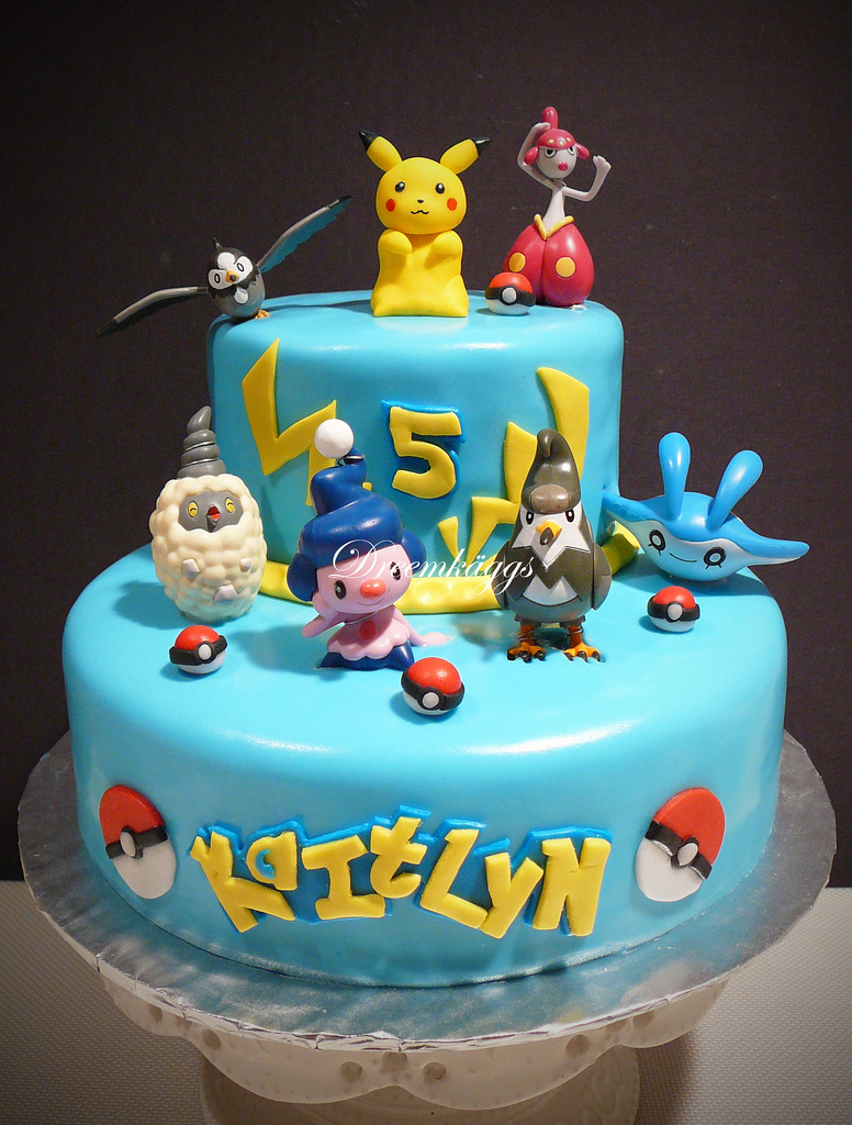 Pokemon Birthday Cake Kaitlyns Pokemon Birthday Cake Hand Molded Pikachu Along Flickr