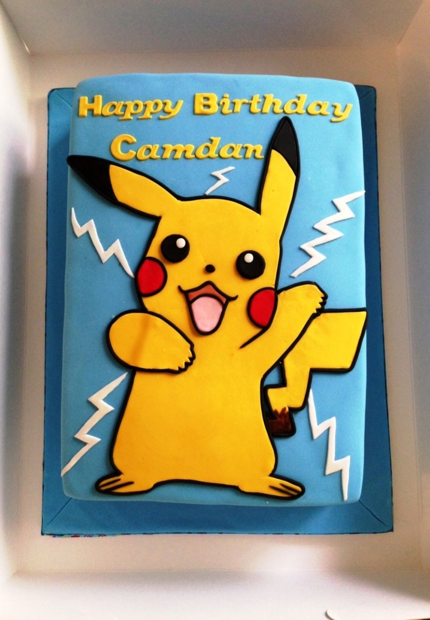 Pokemon Birthday Cake Pikachu Birthday Cake Cakecentral