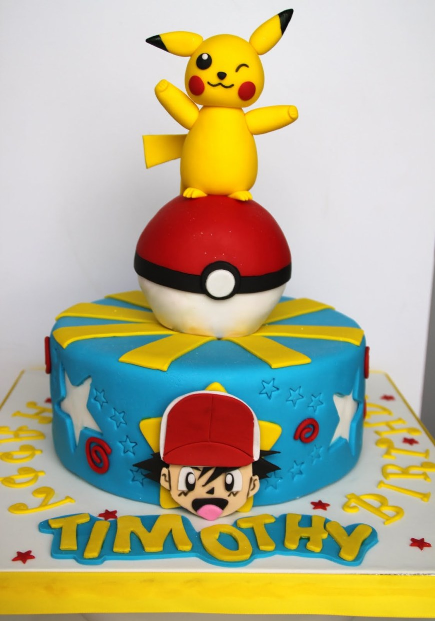 Pokemon Birthday Cake Pikachu Cakes Decoration Ideas Little Birthday Cakes