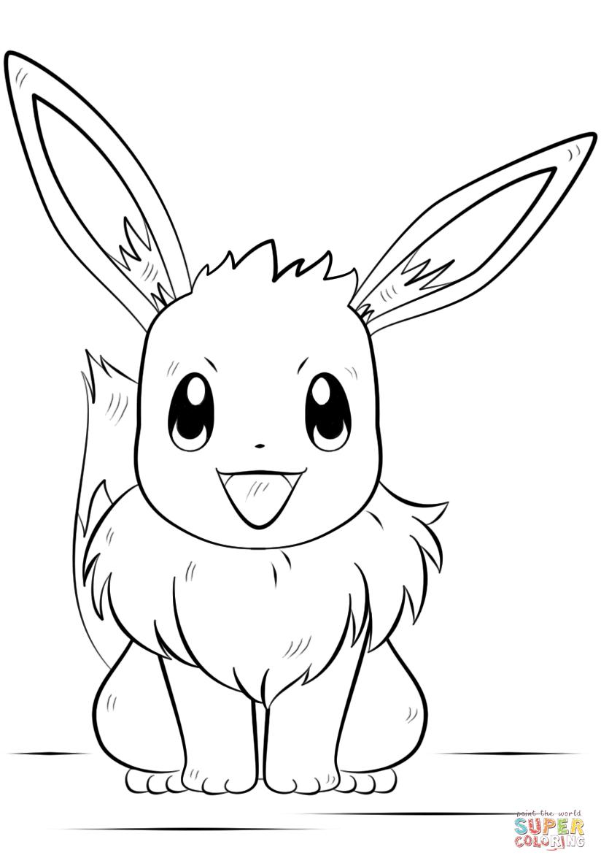 Pokemon Coloring Pages Eevee Eevee Pokemon Coloring Page Free Printable Coloring Pages