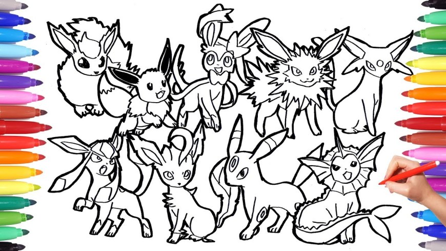 Pokemon Coloring Pages Eevee Pokemon Coloring Pages Eevee Evolution Pokemon Coloring Book Fun