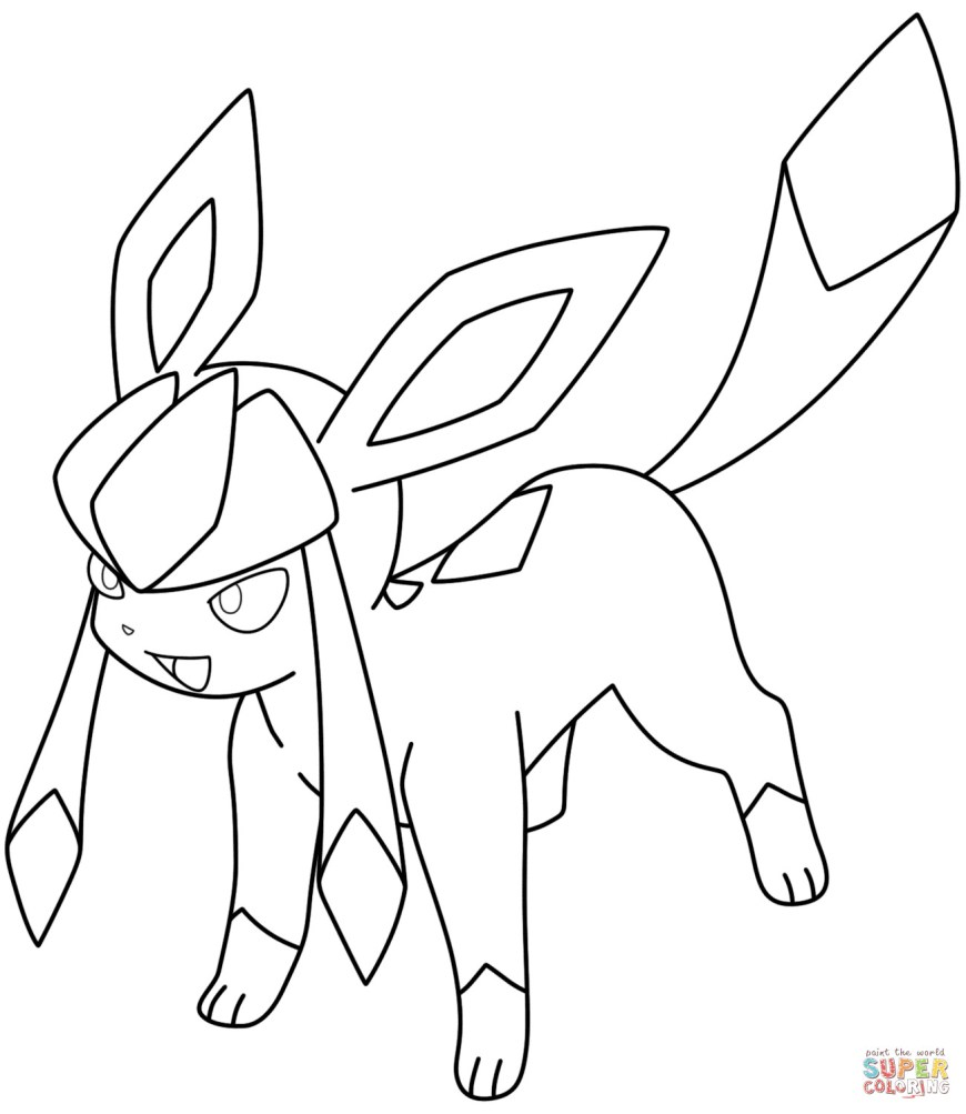 Pokemon Coloring Pages Eevee Pokemon Coloring Pages Eevee Evolutions Glaceon Hard Top 75 Free