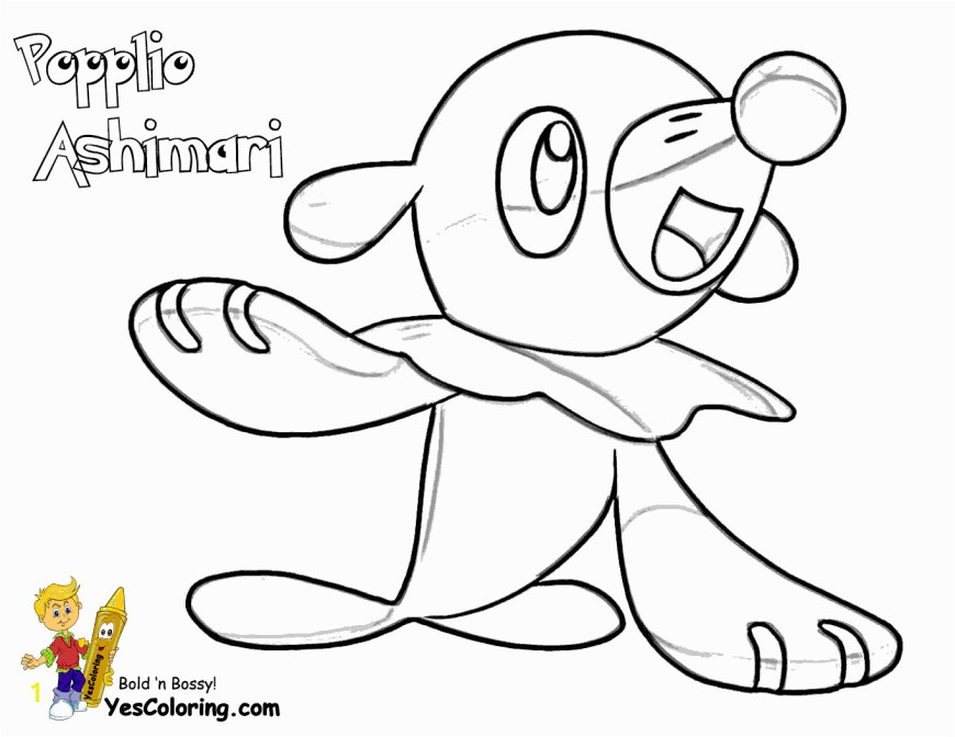 Pokemon Sun And Moon Coloring Pages Popplio Coloring Page Coloring Page Pokemon Sun And Moon