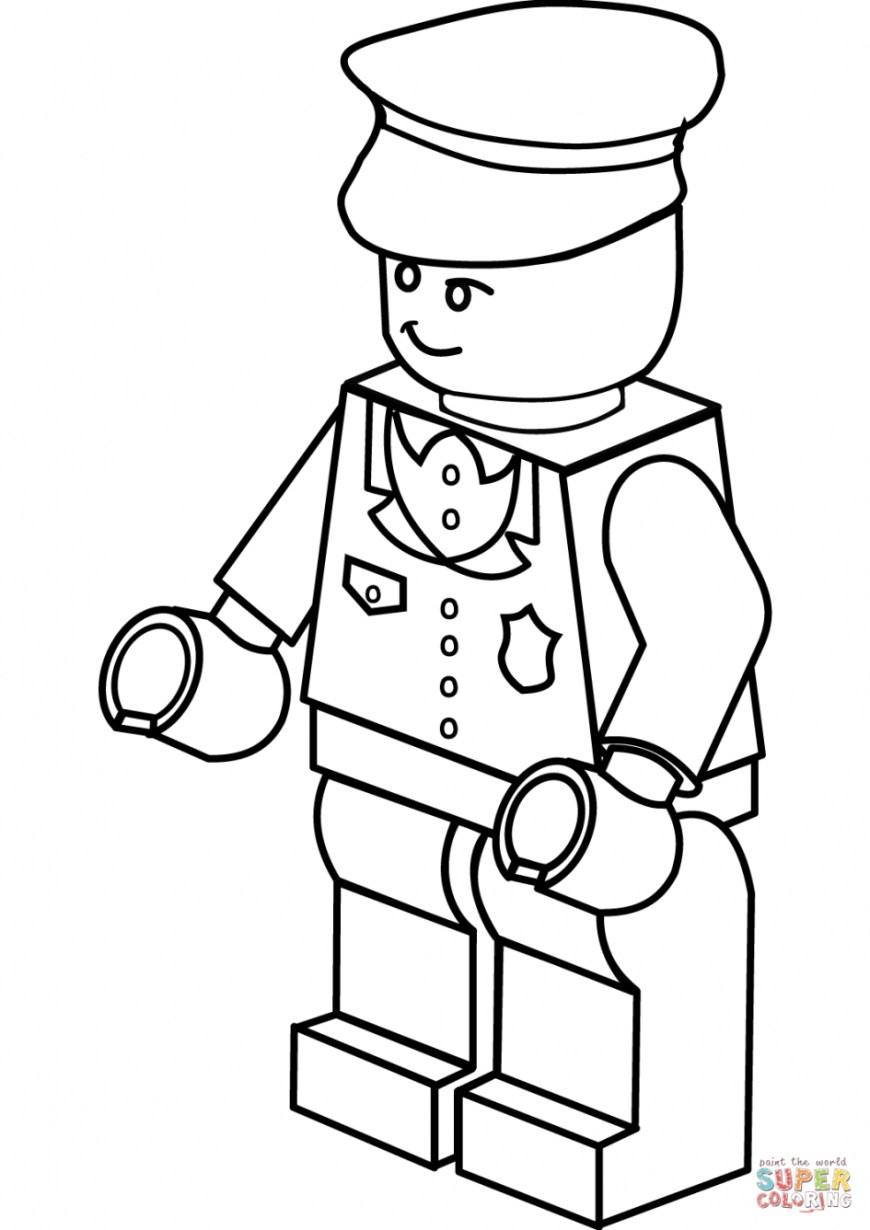Police Officer Coloring Pages Lego Coloring Pages Free Download Best Lego Coloring Pages On