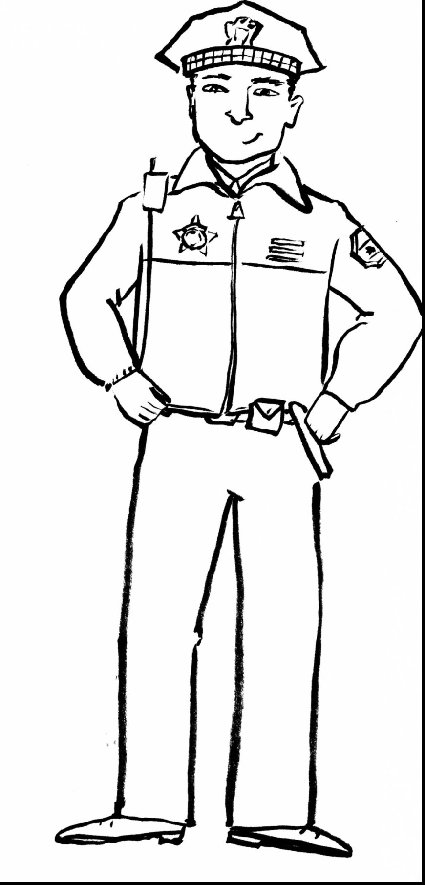 Police Officer Coloring Pages Police Officer Coloring Pages Printable Chronicles Network