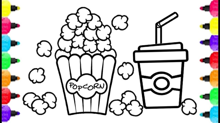 Popcorn Coloring Page Maxresdefault For Popcorn Coloring Page Parkspfe