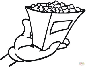 Popcorn Coloring Page Popcorn Coloring Page Free Printable Coloring Pages
