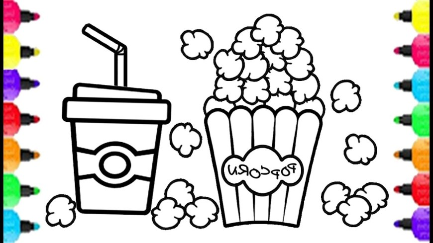 Popcorn Coloring Page Popcorn Coloring Page Ps25 Popcorn Theater Set Coloring Pages How To